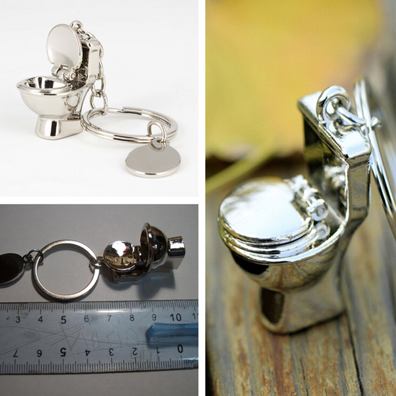 New Fashion Gold Brick Alloy Keyring Polished Chrome Classic 3d Pendant Keychain Creative Gift Jewelry & Accessories Jewelry Sets & More