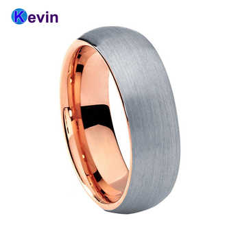 Rose Gold Wedding Band Ring Tungsten Ring Men Women Band 6MM And 8MM Available - DISCOUNT ITEM  25% OFF All Category