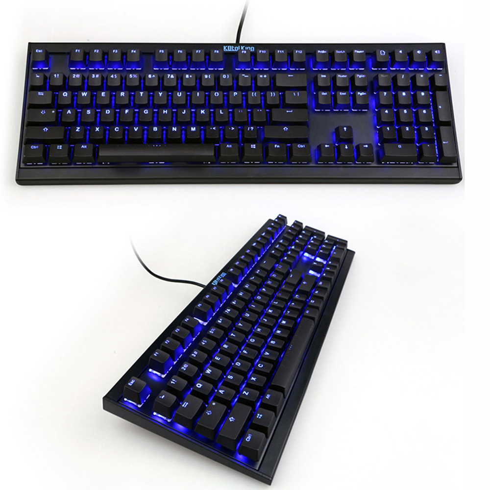 108 Buttons Blue Backlight Gaming USB Wired Mechanical Keyboard Red Tea White Black Axis Suspension Keyboard