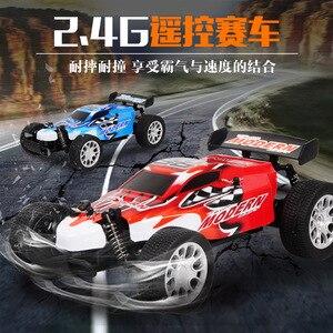 Image 1 - 2.4G RC araba şarj 1:20 dört yönlü uzaktan kumanda yüksek hızlı araç oyuncak modeli elektrikli araç yarış kapalı road araç çocuk oyuncak