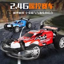 2.4g rc carro de carregamento 1:20 quatro way controle remoto de alta velocidade modelo de brinquedo do veículo elétrico veículo de corrida fora de estrada brinquedo do menino do veículo