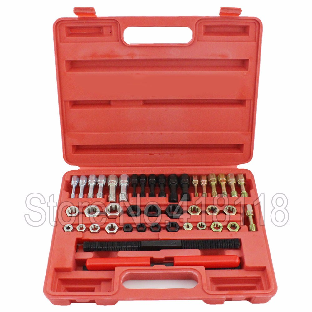42PC UNF UNC METRIC RETHREAD BOLT KIT THREAD FILE REPAIR TAP TOOL RESTORER KIT 20pcs m3 m12 screw thread metric plugs taps tap wrench die wrench set