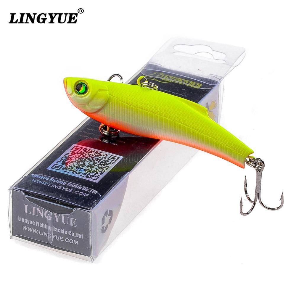 Lingyue 1 шт. Рыболовные приманки 7 см/18.4 г VIB искусственные приманки сделать 7 цветов доступны бас воблера воблеры Рыбалка снасти PESCA.
