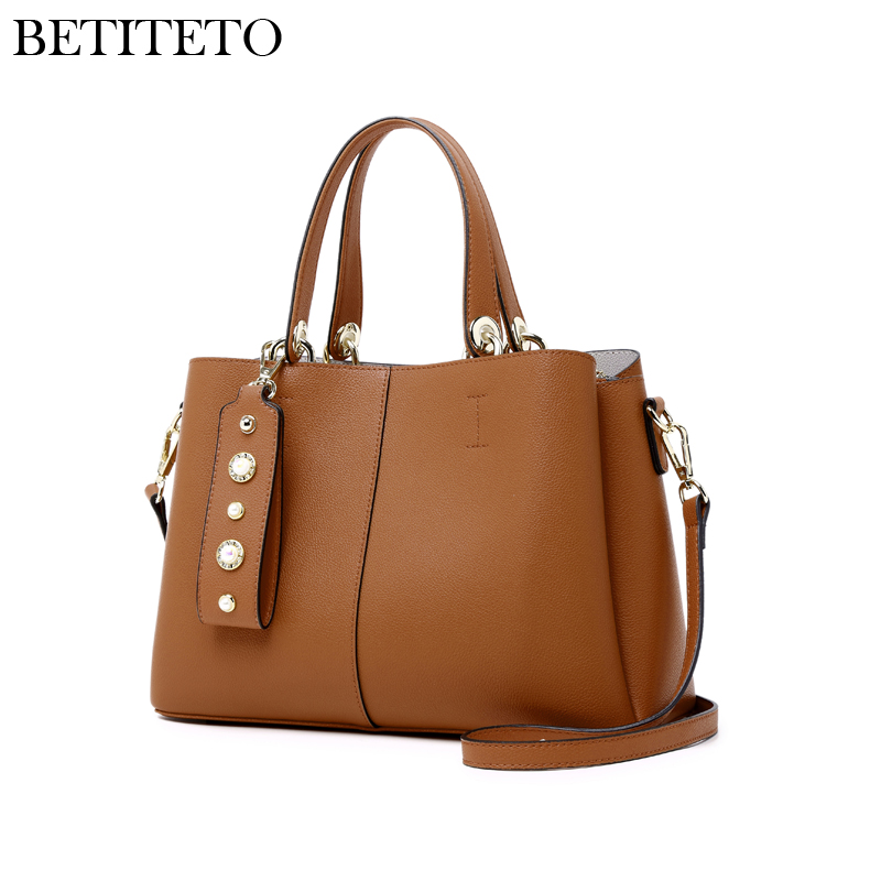 Betiteto Genuine Leather Women Messenger Bags Tote Bags For Women Shoulder Sling Handbag Sac Main Femme GG Louis Ladies Hand Bag esufeir brand genuine leather women handbag cow leather patchwork shoulder bag fashion women messenger bag tote bags sac a main