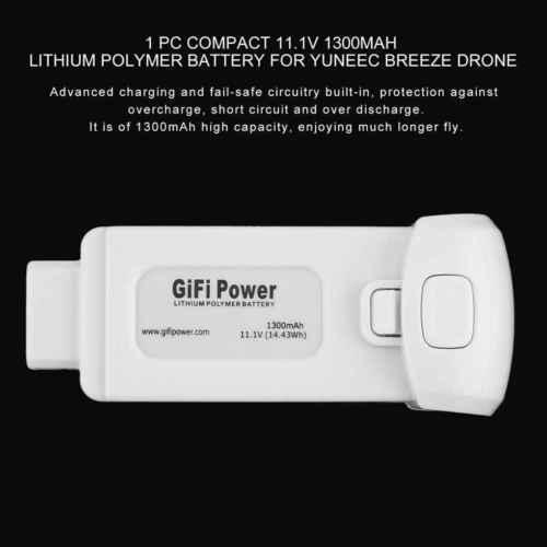 Batería LiPo de rendimiento estable de 1300 mAh/1700 mAh 11,1 V 3 S para la brisa de Yuneec