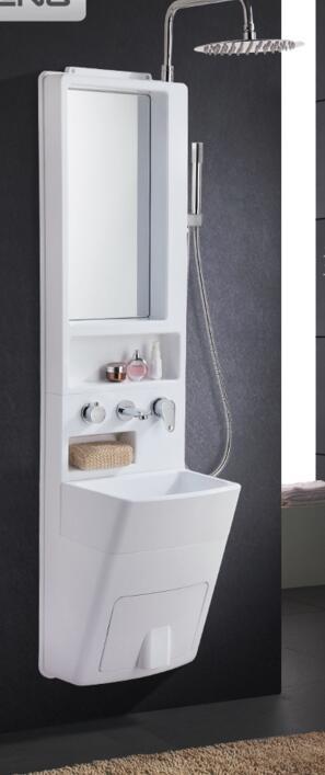 L'arche de salle de bain combinaison arche de lentille. Laver l'évier. Robinet de douche double ceinture de toilette