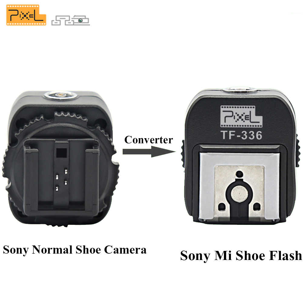 PIXEL TF-336 TTL Griffe porte Flash Adaptateur Convertisseur Pour Sony A100 A200 A230 A300 A330 Chaussure Normale Caméra Sony Km Chaussure Speedlite