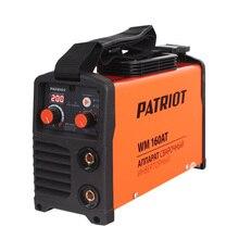 Аппарат сварочный инверторный PATRIOT WM 160AT MMA (Выходной ток 20-160А, диаметр электродов 1.6-4.0 мм, мощность 7300 Вт, ПВ при макс.токе 60%, работа при пониженном напряжении 140-240 В)