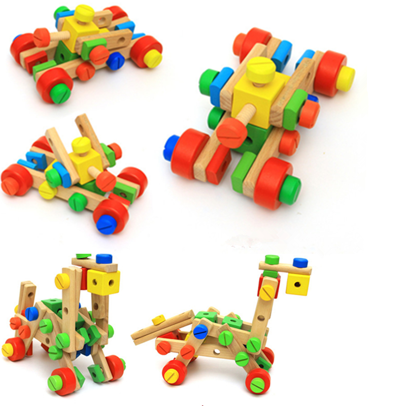 New Arrival 80PCS Selection versatile constructing blocks puzzle nut mixture disassembly assembling toys for youngsters