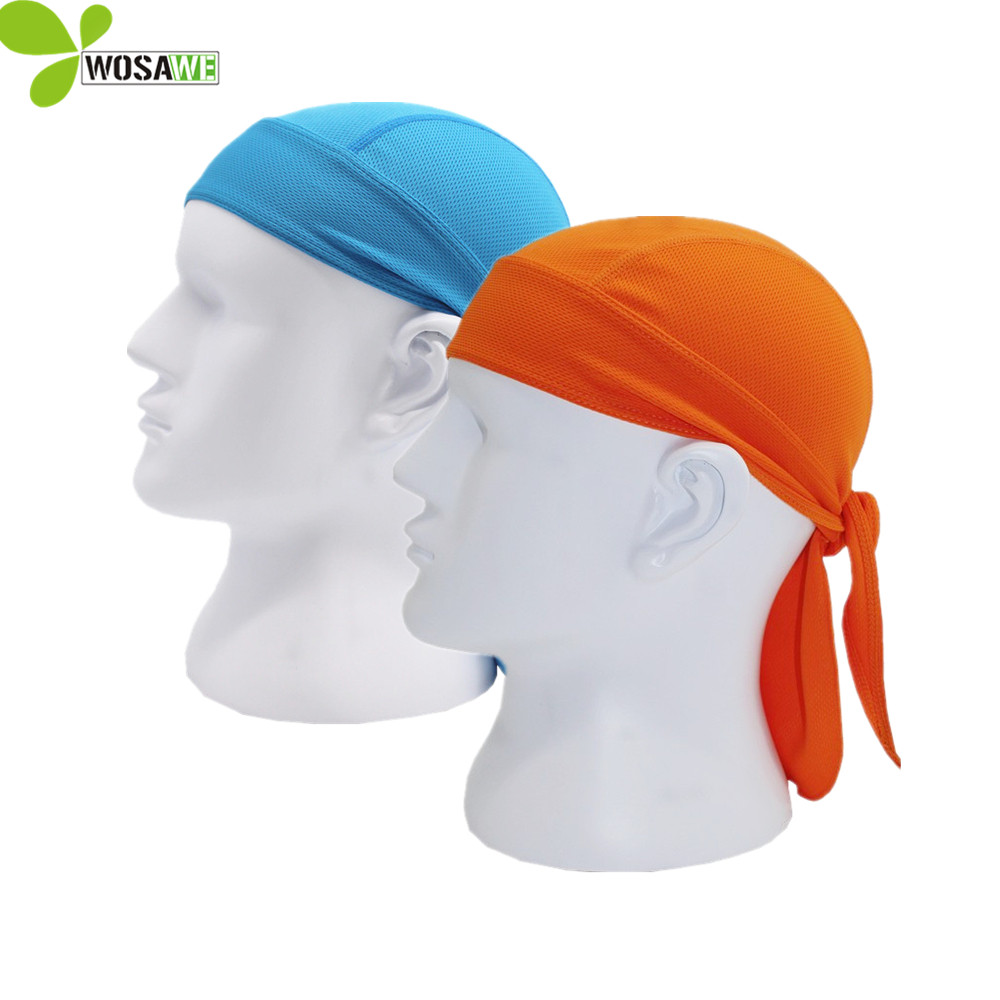 WOSAWE solid hip-hop rock men couple cycling mask breathable head cover hat UV protection Headscarf Ciclismo clothes cycling cap outfly b12038 men s uv protection visor cap hat w detachable mask deep blue