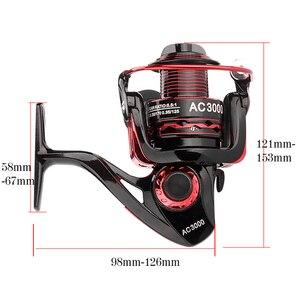 Image 4 - YUYU Metal Fishing Reel Spinning Reel for carp fishing metal spool 1000 2000 3000 4000 5000 6000 Ratio 5.5:1 Fishing Tackle