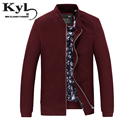 2016 New Bomber Jacket Men Red Business casual Baseball Jacket Autumn and winter zipper men's Grid  jacket 8808