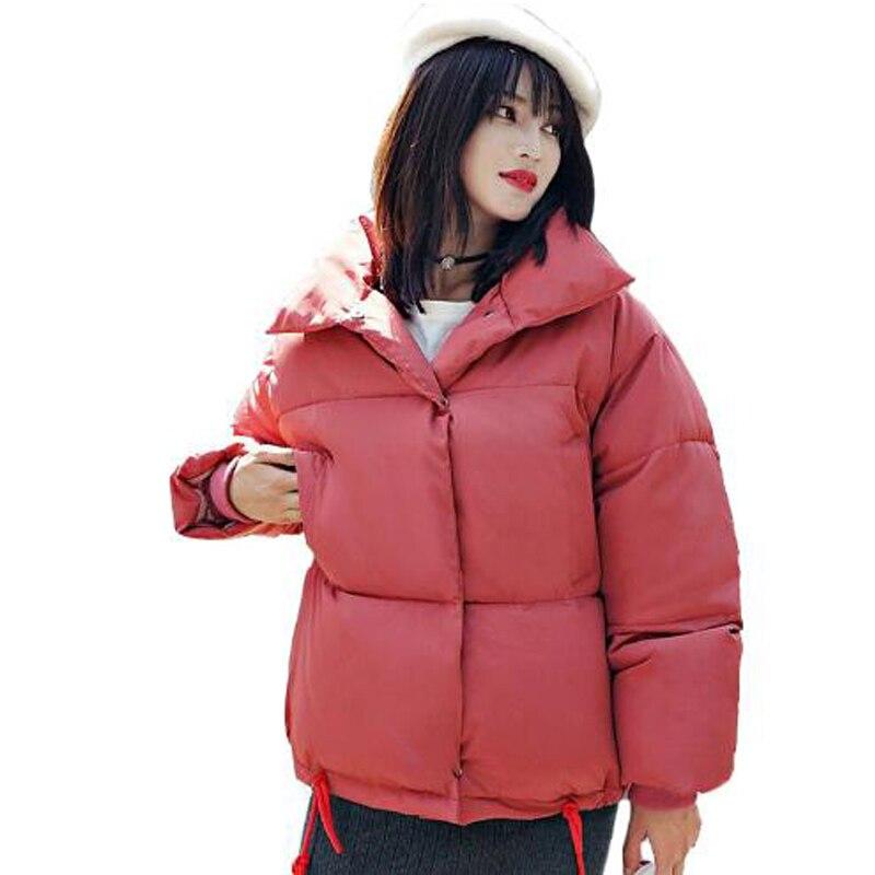100% Wahr Winter Frauen Baumwolle Gefütterte Jacke Frauen Wadded Jacken Warme Mäntel Kurze Parkas Brot Stil Oversize Lose Outwear Mäntel
