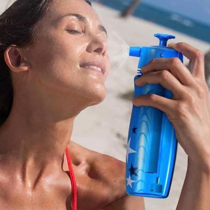 다기능 스프레이 물병 마시는 미스터 물 분무기 여행 캠핑 마시는 컵 냉각 스프레이 병