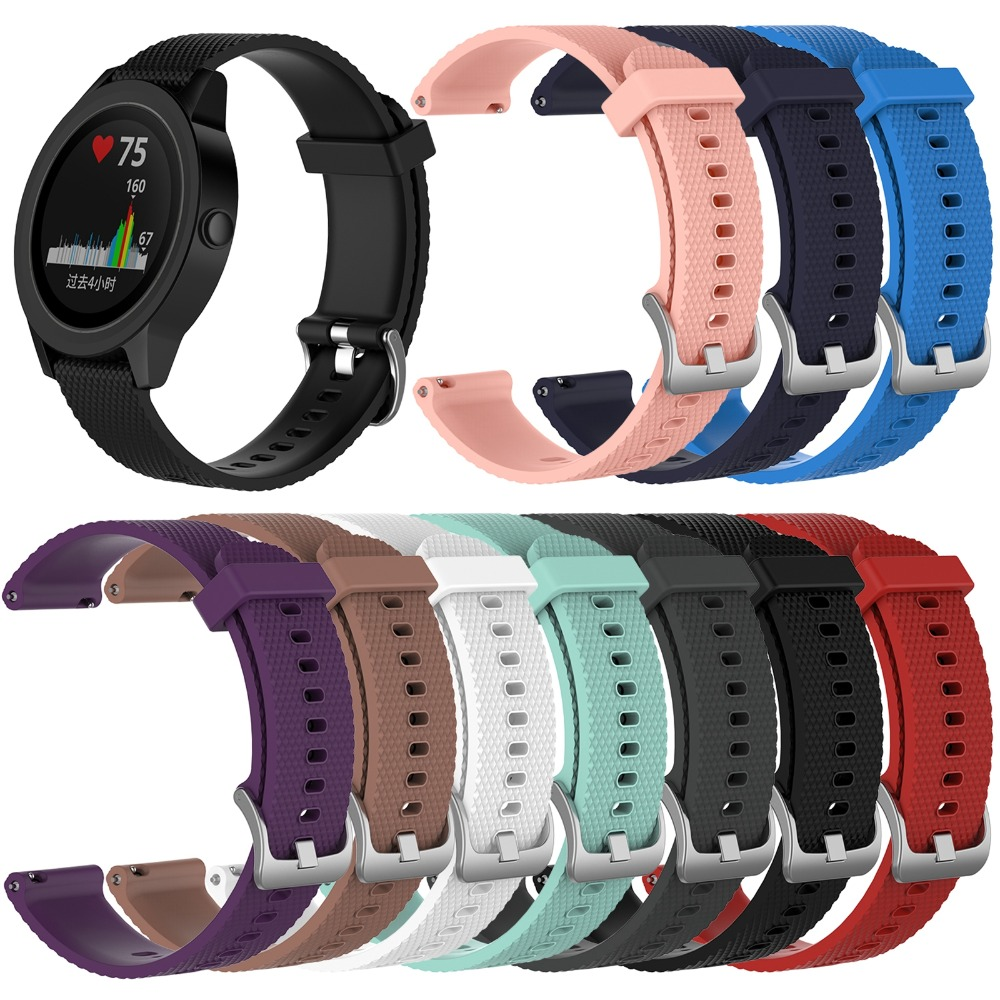 XBERSTAR Silicone Bracelet Strap For Garmin Vivomove/HR/Vivoactive 3 GPS Smart Watch Unisex Bracelet Strap Wristband Accessories