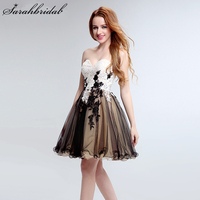Charming Ever Pretty Short Homecoming Dresses With Sweetheart Zipper Sleeveless Appliques Lace Prom Party Dresses LSX196