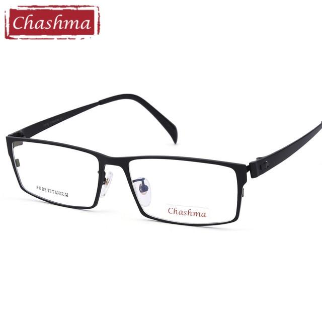 9ddf4a2955 Chashma Gentlemen Pure Titanium Eyeglasses Frame Lentes Opticos Gafas Top  Quality Titanium Frames Male Big Frames Eye Glasses