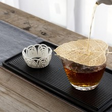 Bodhi Leaf Tea Filter Creative Bookmarks Metope Hollow Out The Leaves Personality Filter Tea strainer