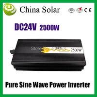 2500 Вт Инвертор, чистая Синусоидальная волна инвертор вход DC24V, выход 220 В электрические приборы