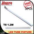 3pcs free shipping 4ft 1200mm t8 led tube light fixture support, led tube bracket
