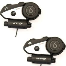 2017 Vimoto Marke 2 stücke V6 Pro Motorrad Helm Bluetooth Headset Intercom Drahtlose Intercomunicador BT Sprech