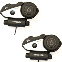 2017 Vimoto Brand 2pcs V6 Pro Motorcycle Helmet Bluetooth Headset Intercom Wireless Intercomunicador BT Interphone
