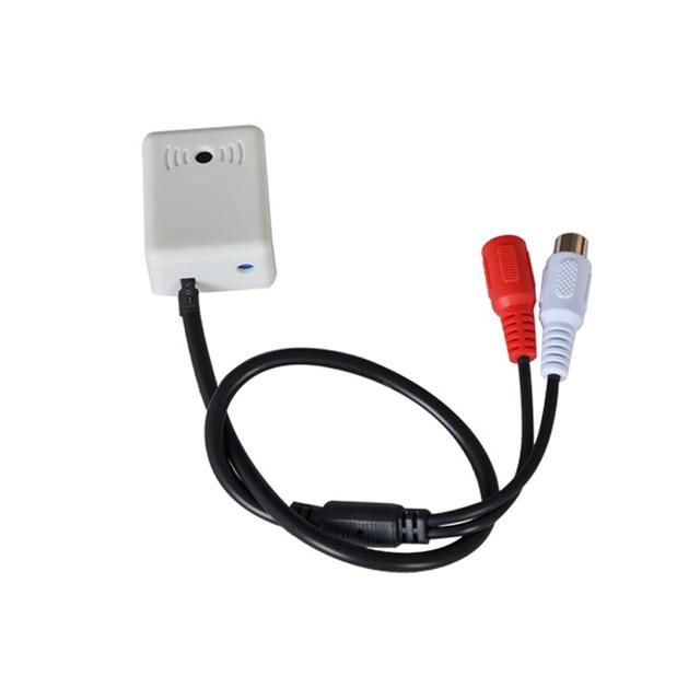 YiiSPO Mini MIC CCTV Microphone Audio Pickup Device for Camera Adapter High Sensitivity Good quality audio monitoring DC12V