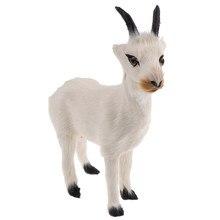 Simülasyon çiftlik/bahçesinde keçi hayvan modeli oyuncak aksiyon figürleri ev dekoratif el sanatları