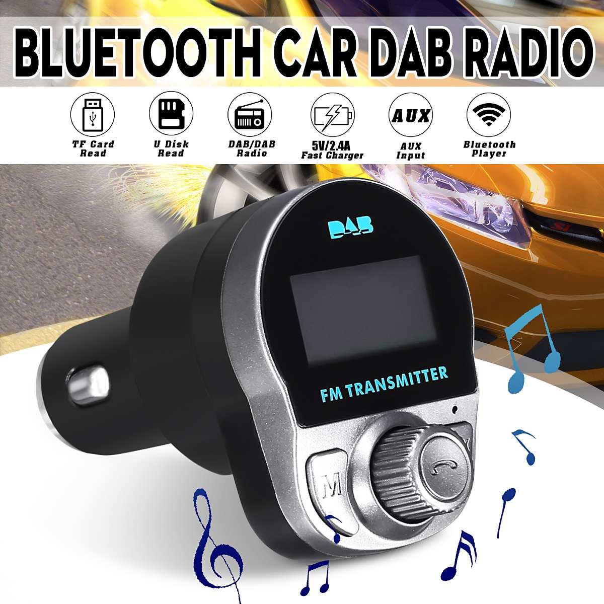 5 V 2.4A DAB récepteur voiture DAB Radio numérique bluetooth lecteur MP3 chargeur de lancement FM avec antenne