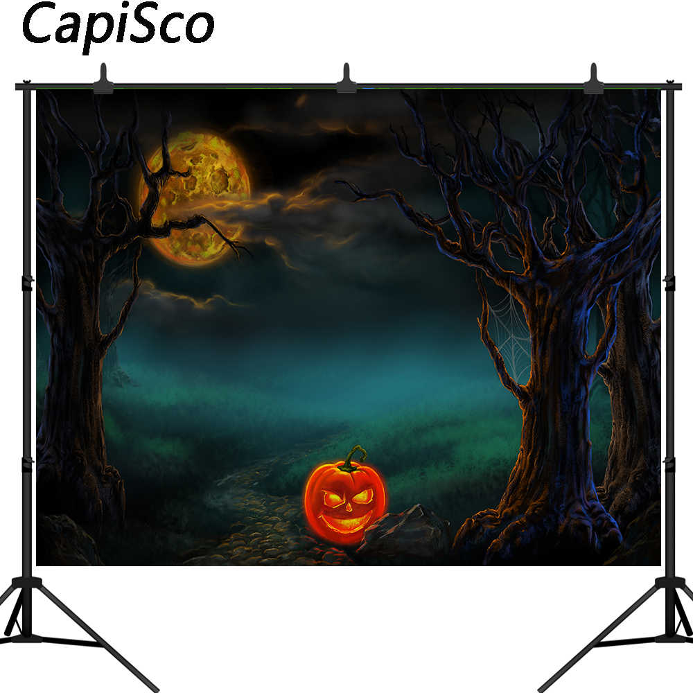 Capisco Хэллоуин тема фотография Фон Тыква лес полная луна декорация фотостудия реквизит