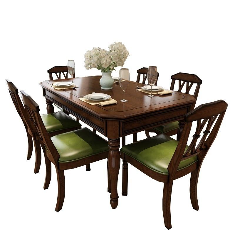 Da Pranzo Küche Salle Eine Krippe Moderne Dinning Eettafel Set Escrivaninha Juego De Retro Mesa Comedor Bureau Tablo Esstisch Angenehme SüßE Wohnmöbel