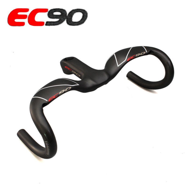 EC90 full carbon fiber road bike handlebars / bikes/integrated one-piece handlebar CARBON BICYCLE HANDLE toseek carbon fiber road bicycle handlebar bicycle bent bar bike handlebar cycling handlebars mountain bikes accessories parts