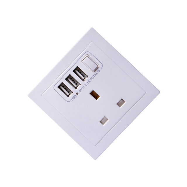 5pcs Universal Wall Socket Dual 2 USB Plug Switch Power Supply ...
