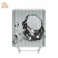 الذاكرة الرئيسية جديد براقة الماس 3d نسيج البوليستر للماء دش الحمام الستار مجموعة الزفاف هدية حزب دش الستار