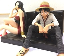NEW hot 12cm One piece Boa Hancock Monkey D Luffy Modelling Action figure toys collection doll
