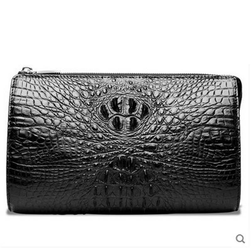 hlt crocodile men clutch bag male genuine leather hand grab bag large capacity commercial high grade pure leather men bag