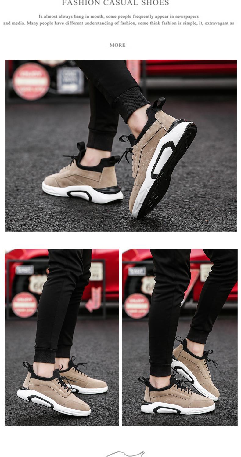 2018 Spring/Autumn Men's Vulcanize Shoes Fashion Sneakers Men Casual Shoes Flats Men Shoes Chaussure Homme Designer Sneakers 12