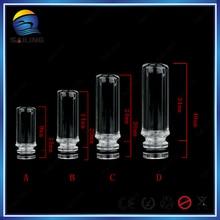 Sailing 510 glass Drip tips electronic cigarette Pyrex Glass transparent for 510 tank atomizer