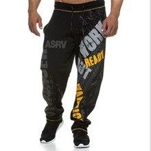 Мужские спортивные штаны для фитнеса, тренировочные штаны для бега, повседневные штаны, Осенние хлопковые спортивные штаны, модные уличные штаны, мужские эластичные штаны