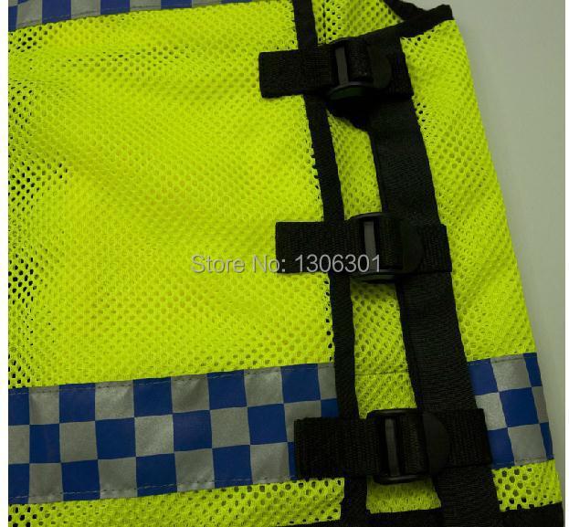 NEW HONGKONG STYLE Reflective vest Lattice screen cloth Safety vest Traffic  police zipper reflective vest print able