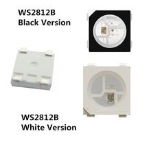 10~1000pcs WS2812B Lamp beads 5050 RGB SMD Black/White version WS2812 Individually Addressable Digital LED Chip DC5V ws2812 16 bits leds 5050 smd rgb individual addressable ring round led pixel light board dc5v white black pcb df
