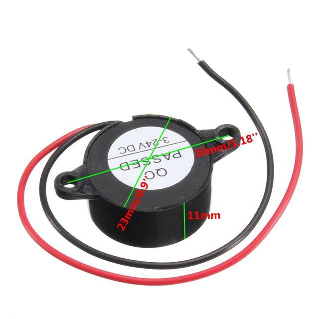3 24V elektrikli Buzzer Alarm hoparlör uyarı araba güvenlik korna otomobil Siren polis Siren havalı korna elektrikli araç