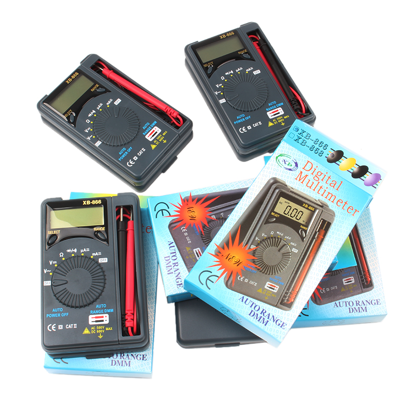 Precise Multimeter Dt10a Pocket Slim Mini Pocket Card Automatic Range Wei Hua Multimeters
