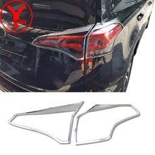 Cauda chrome luz traseira capa para toyota rav 4 2016 2017 2018 acessórios estilo do carro ABS protetor para toyota rav4 2017 YCSUNZ