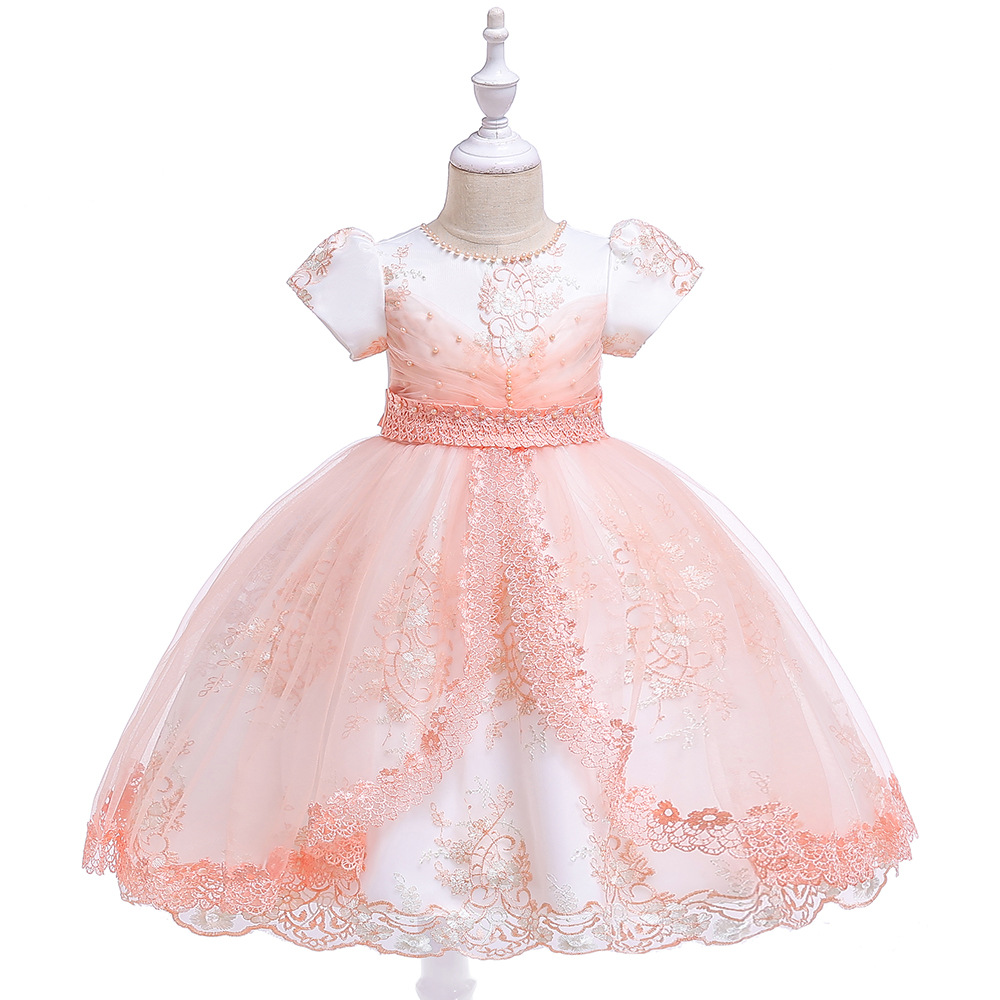 New Ballgwon   Flower     Girl     Dresses   For Wedding Tulle Lace Appliques Birthday Party   Dress   Tutu   Dresses   2019
