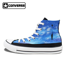 Women Men Converse Chuck Taylor Nebula Galaxy Balloon Original Design Hand Painted Shoes Woman Man Sneakers