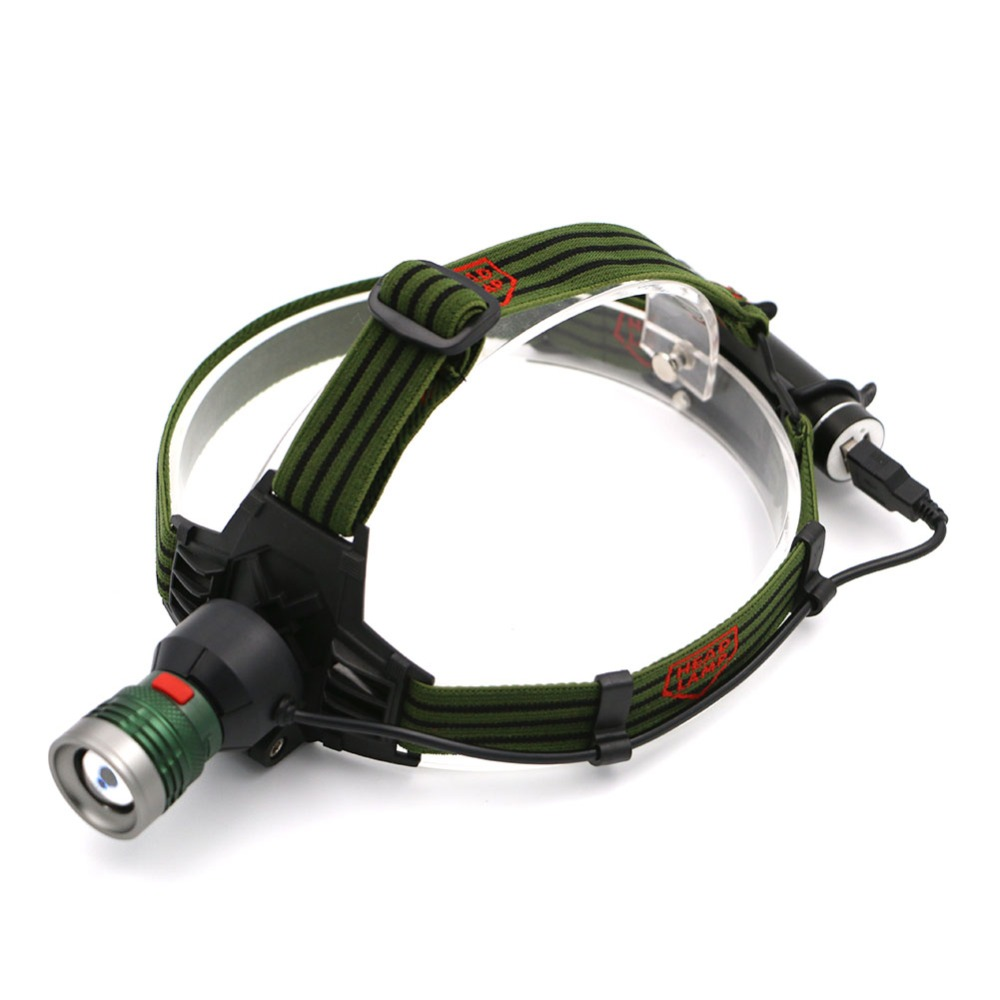 High Quality 2 in 1 Aluminum Alloy Led Headlamp 3 Modes Headlamp USB Head Light Lamp Rechargeable Flashlight For Camping Hunting high quality 2 mode power 5w led headlight 48000lx outdoor fishing headlamp rechargeable hunting cap light