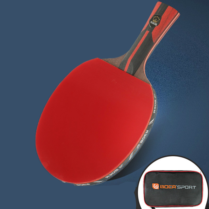 1 Piece 6 Stars Professional Carbon 7 Layers Table Tennis Bat Racket Long Short Handle Ping Pong Paddle Racket With Carry Bag
