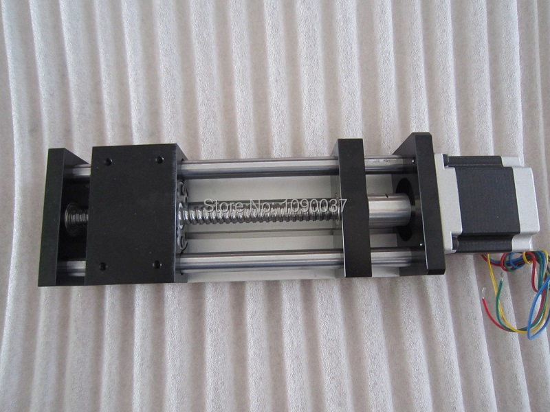 GGP 1610 300mm ball screw Sliding Table effective stroke  Guide Rail XYZ axis Linear motion+1pc nema 23 stepper motor cnc stk 8 8 ballscrew screw slide module effective stroke 150mm guide rail xyz axis linear motion 1pc nema 23 stepper motor