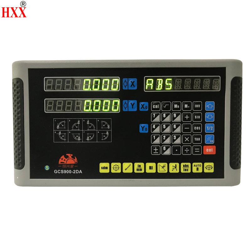 high precision tools digital readout DRO system display GCS900-2DA for mill/lathe/milling/cutting machines with one piece hxx high precision multifunction new dro set gcs900 2da and 2 pc linear glass scales 5u gcs898 50 1000mm for machines